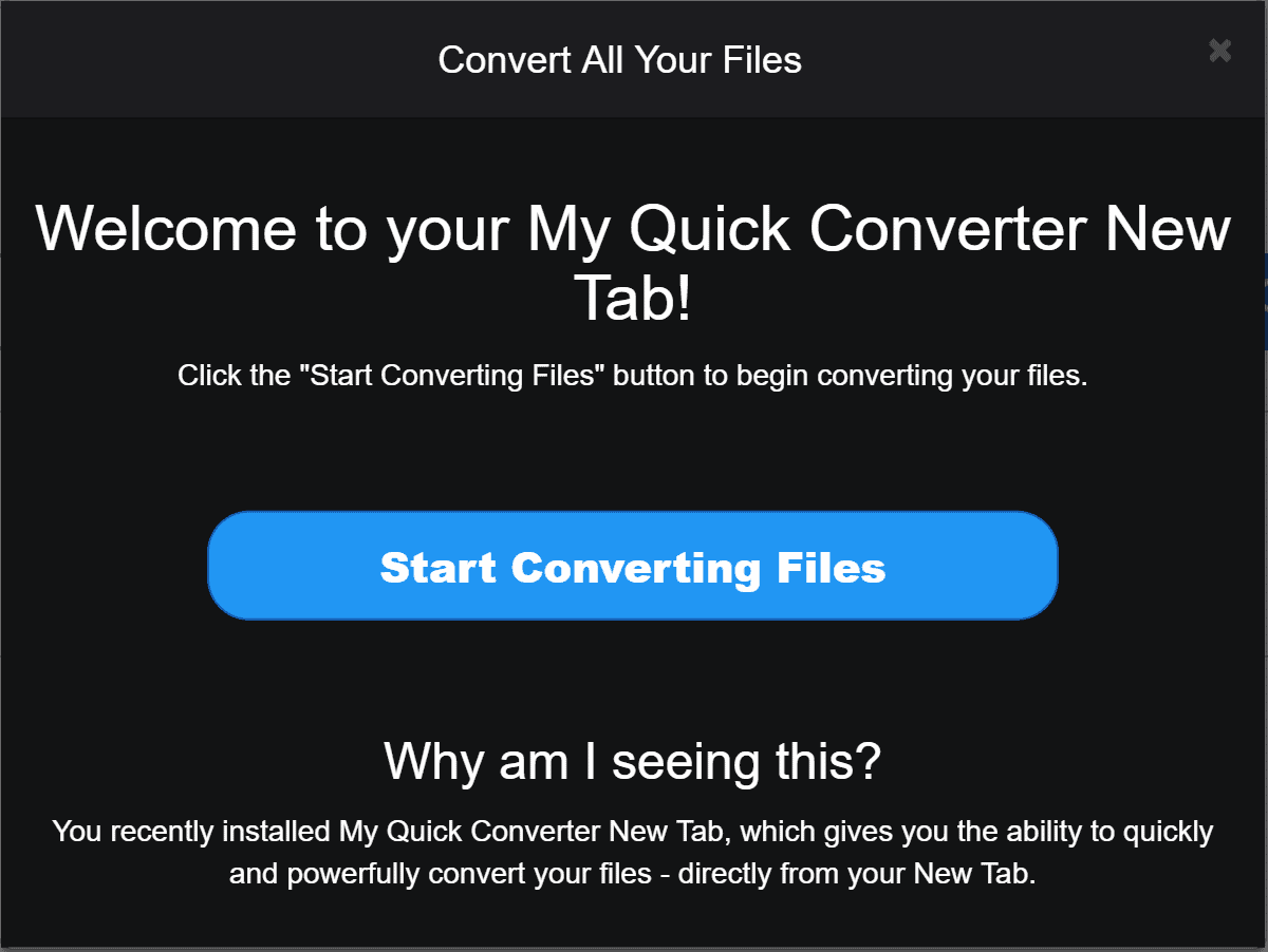 My Quick Converter Ads Malware