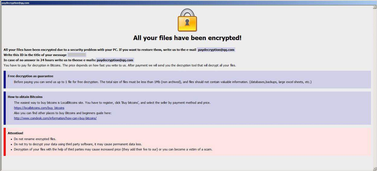 Stopencrypt@qq com Ransomware Removal Guide - Malware Complaints