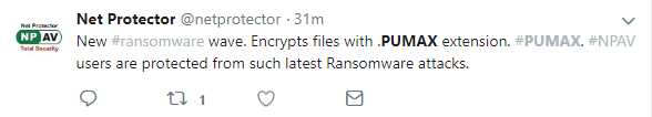 pumax virus ransomware net protector twitter