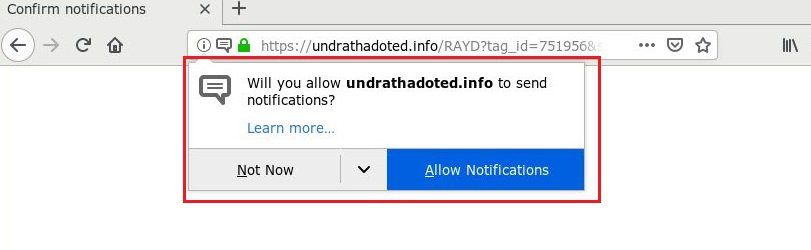 Remove Undrathadoted.info Virus