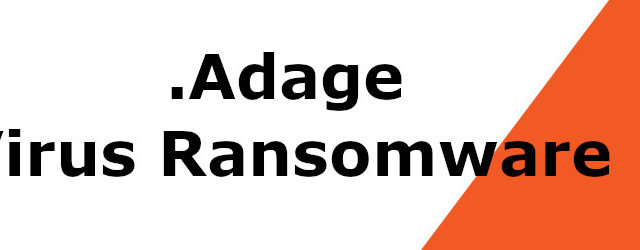 Remove .Adage Virus (Ransomware Removal + File Recovery)