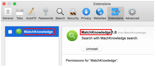 """Istructions for MatchKnowledge """"Virus"""" app removal"""