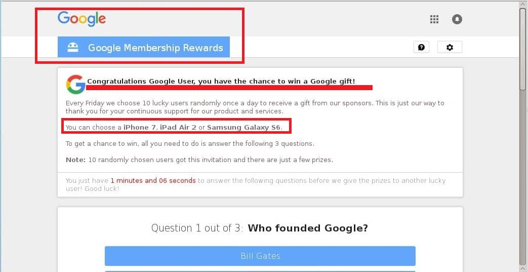 Google Membership Rewards