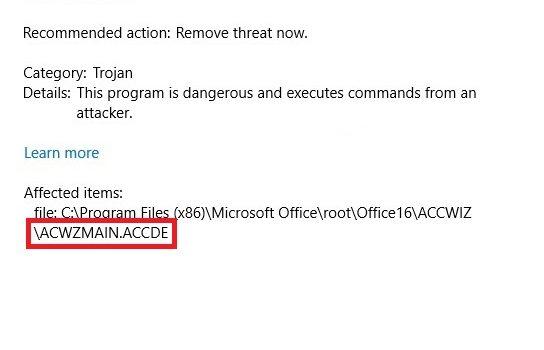 Remove Acwzmain accde Trojan Virus (July 2019 Update