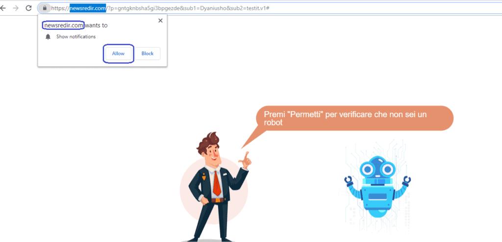 Newsredir.com Virus
