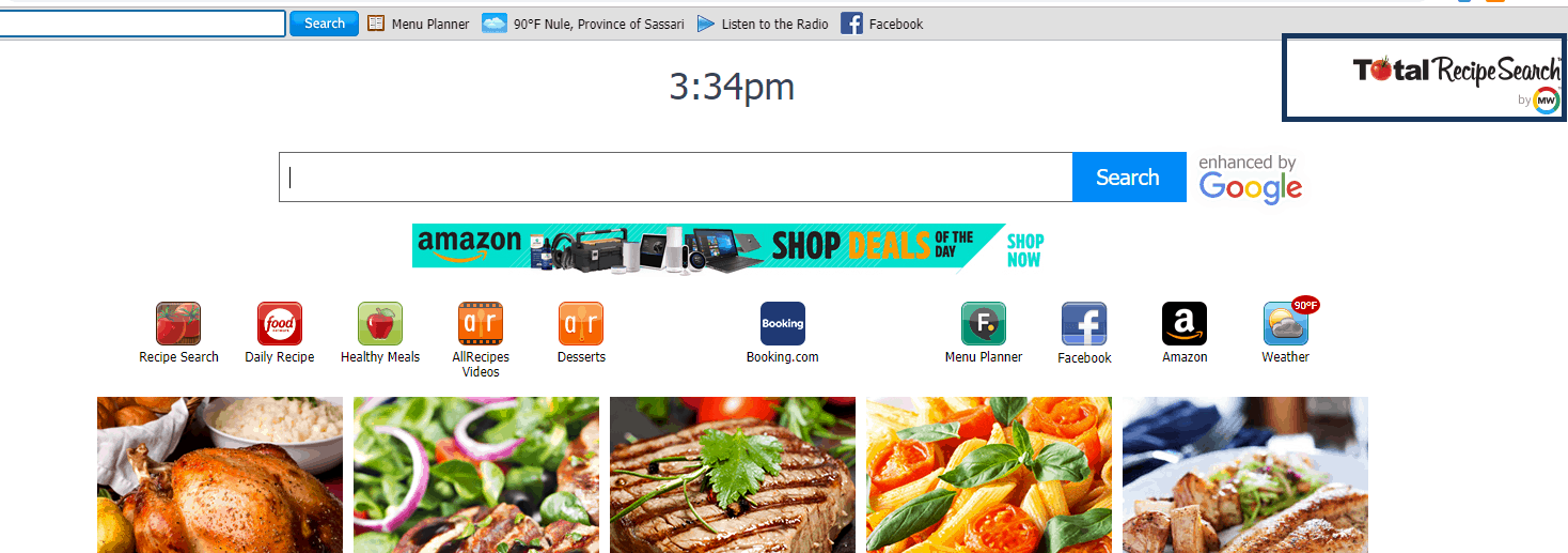 Total Recipe Search Toolbar