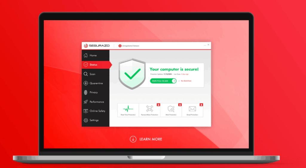 Uninstall Segurazo Antivirus