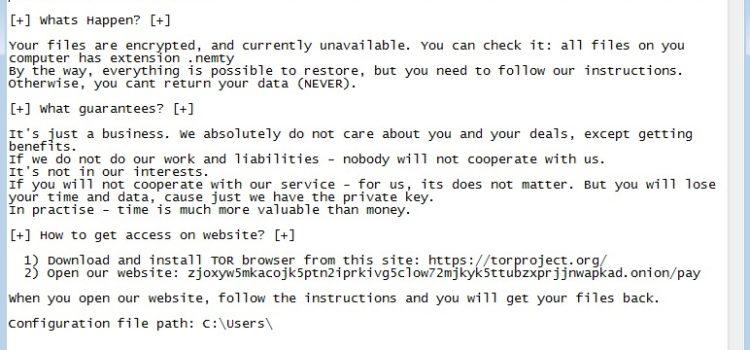 Nemty Virus Removal (+ .Nemty File Recovery)