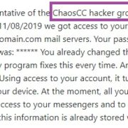 Remove Chaos CC Hacker Group Email