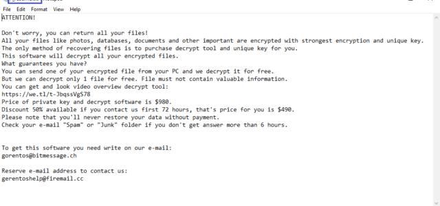 .Xoza Virus File Ransomware Removal (+Recovery)